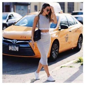 Exclusive UO Calvin Klein striped tube skirt
